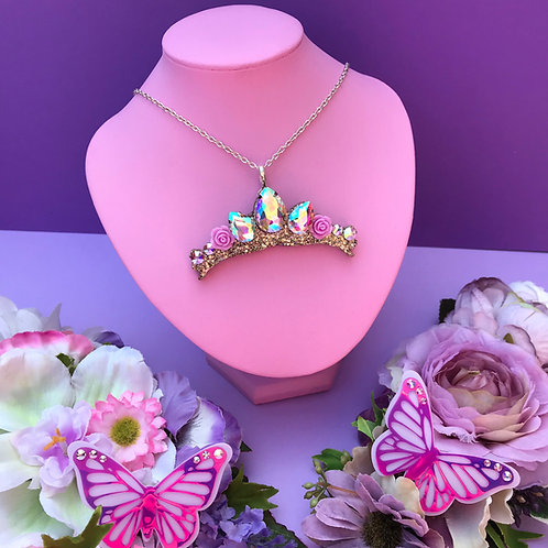 Rapunzel Inspired Tiara Brooch / Necklace