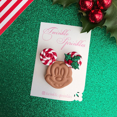 Candy Mickey inspired Waffle Brooch / Necklace