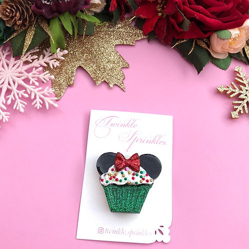 Festive Cupcake Brooch / Necklace