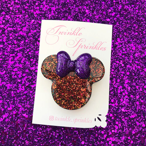 Haloween Minnie Mouse inspired Brooch