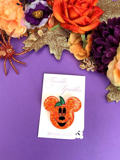 Mickey Inspired Pumpkin Brooch / Necklace