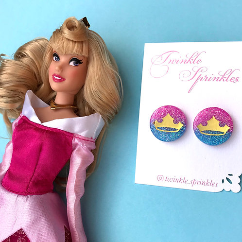 Aurora Inspired Glitter Studs