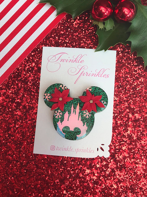 Christmas Magical Castle Brooch / Necklace
