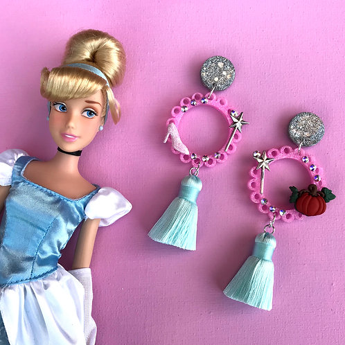 Cinderella Inspired Statement Earrings