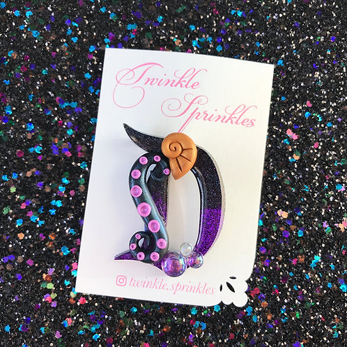 Ursula Sea Witch inspired Brooch / Necklace