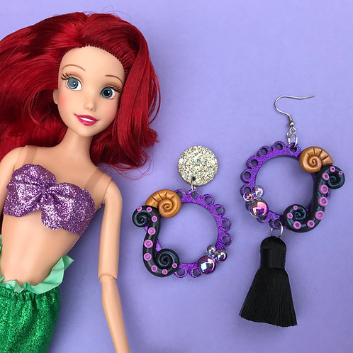 Ursula inspired Earrings - 2 styles available
