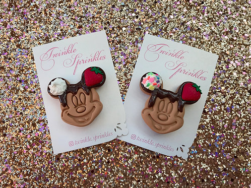 Mickey chocolate waffle inspired Brooch / Necklace