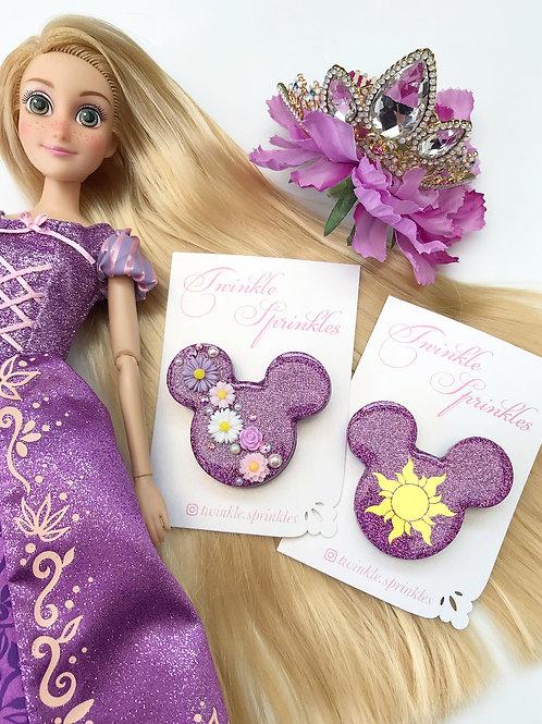 Rapunzel inspired floral Brooch / Necklace