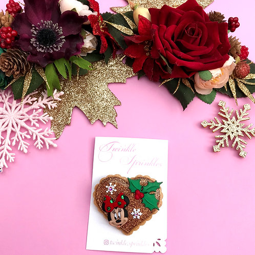 Christmas Sugar Cookie Brooch / Necklace