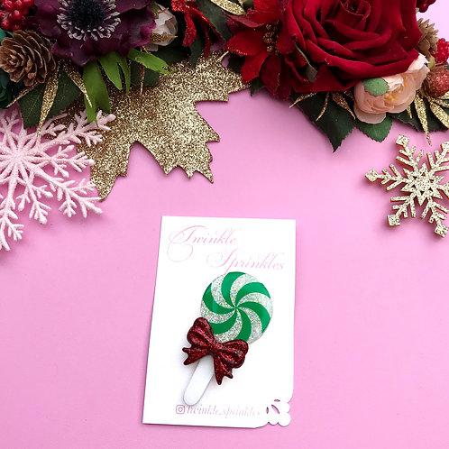 Candy Lollipop Glitter Brooch / Necklace