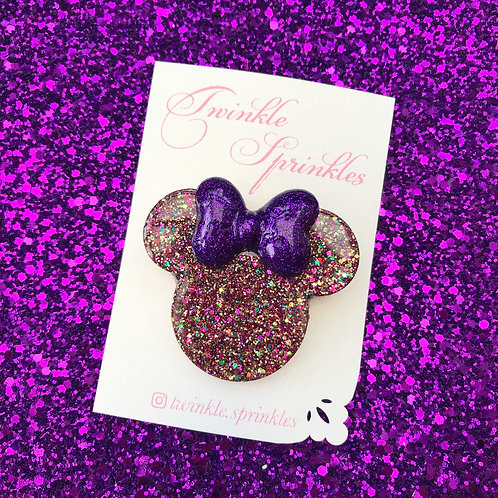 ALL COLOURS - Minnie Mouse inspired Brooch - All Colours