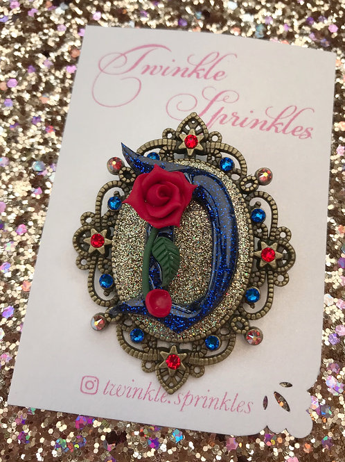 Beauty and The Beast inspired cameo Brooch / Necklace