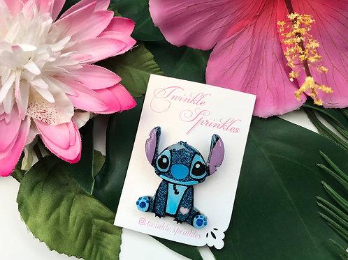 Stitch inspired Brooch / Necklace