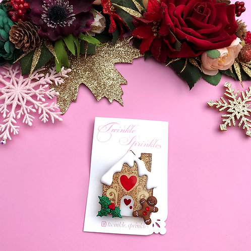Gingerbread House Brooch / Necklace
