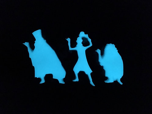 GLOW Hitchiking ghosts Brooches