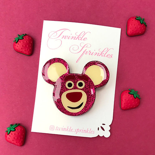 Lotso Inspired Brooch / Necklace