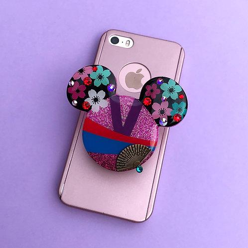Large Mulan Inspired Phone Grip