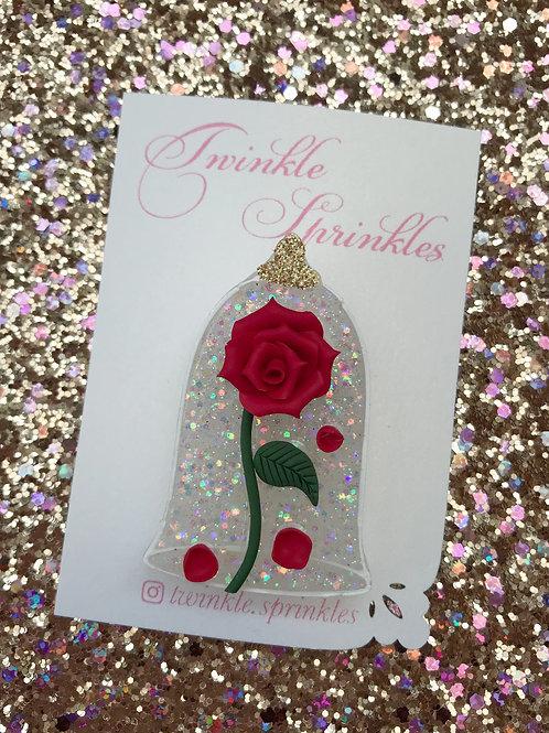 Enchanted Rose Brooch / Necklace
