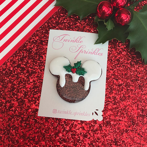 Christmas Pudding Brooch / Necklace