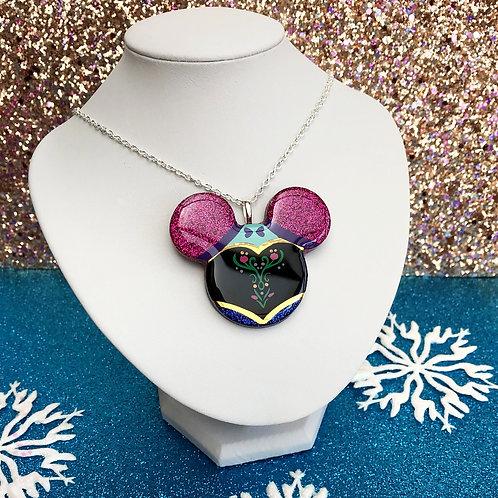 Frozen Anna inspired Brooch / Necklace