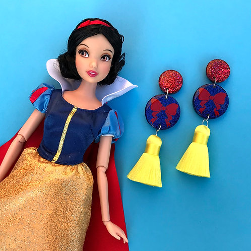 Snow White Inspired Statement Earrings
