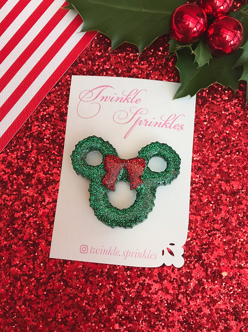 Christmas Wreath Brooch / Necklace