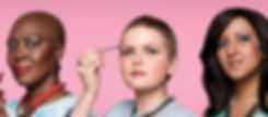 Women with cancer putting on make up