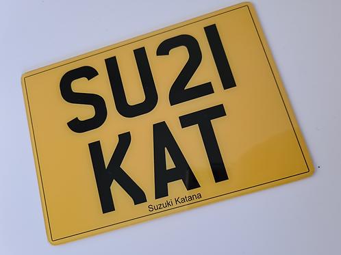 Cherished Number Plate for Suzuki Katana SU21 KAT