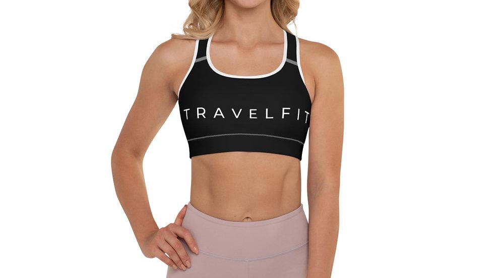 Travelfit Black Padded Sports Bra