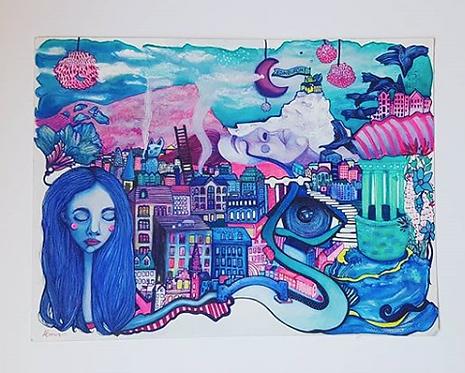 Big City Dreamscape A3 Print