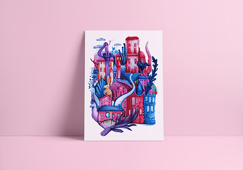 City Dreams no.2 A4 Print