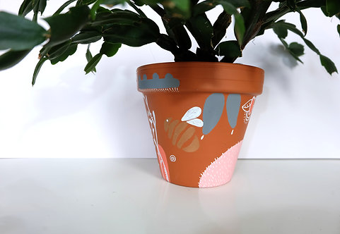 Hand painted terracotta pot- number 1