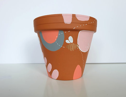 Hand painted terracotta pot- number 3