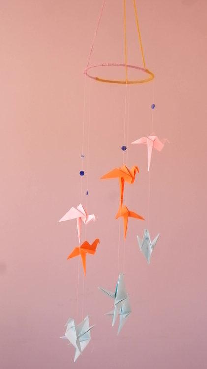 Flamingo + Bird Mobile