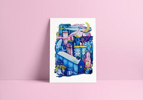 City Dreams no.3 A4 Print