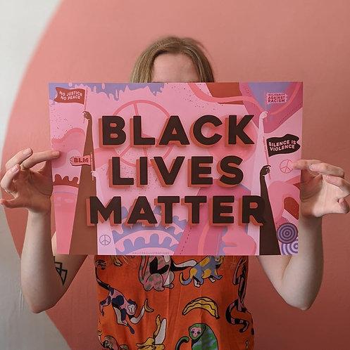 Black Lives Matter A3 Poster