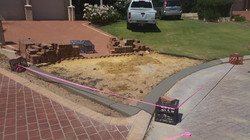 Bond Beam to lock paving in place