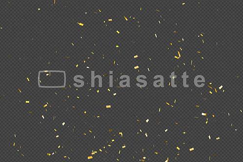 紙吹雪(金色・下の真ん中から)