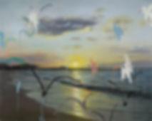 the birds - hashkircha השקירחה, oil on c