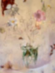 אגרטל פרחים (מס 1) שמן על בד 200 על 190
