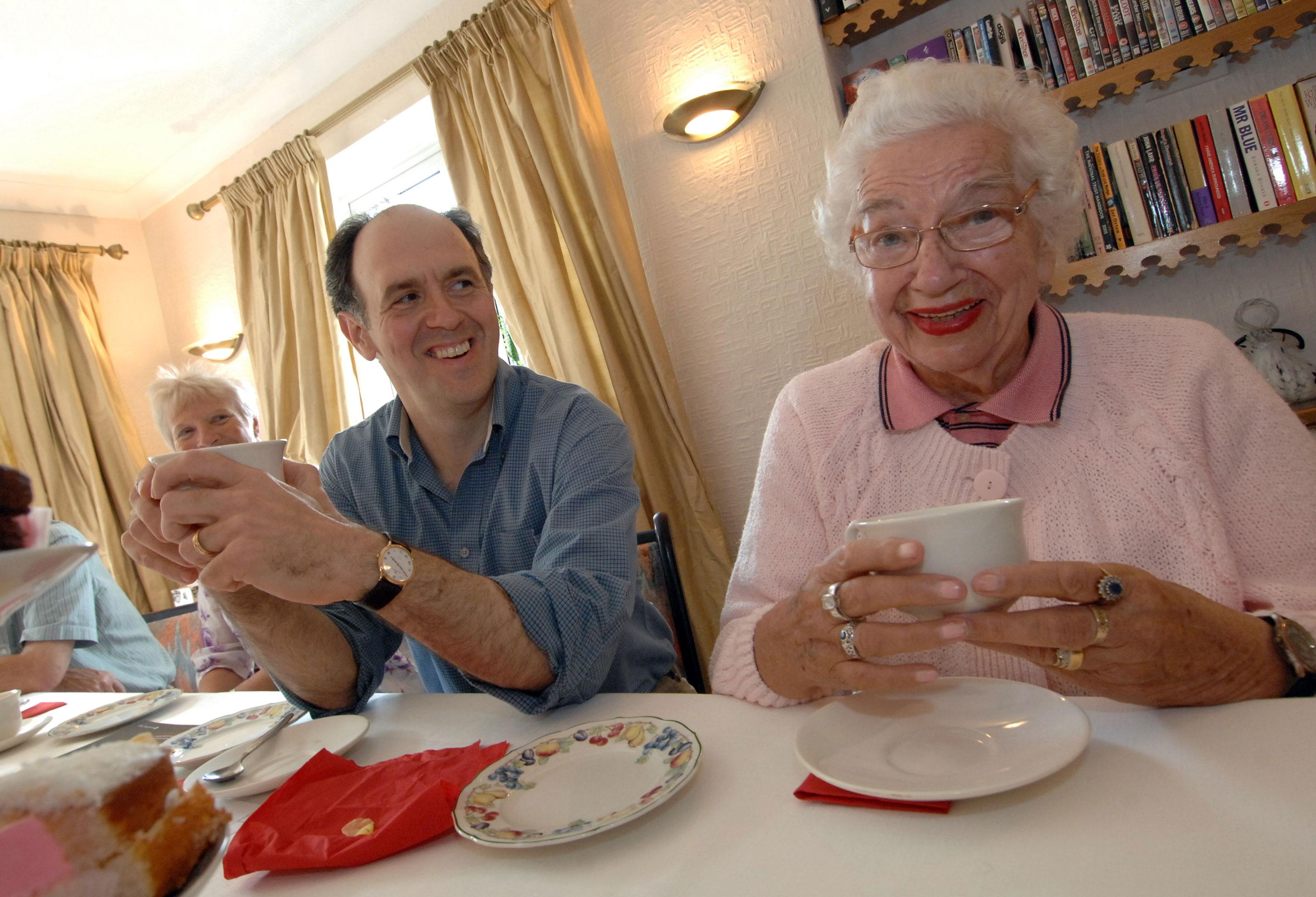 Elderly tea party
