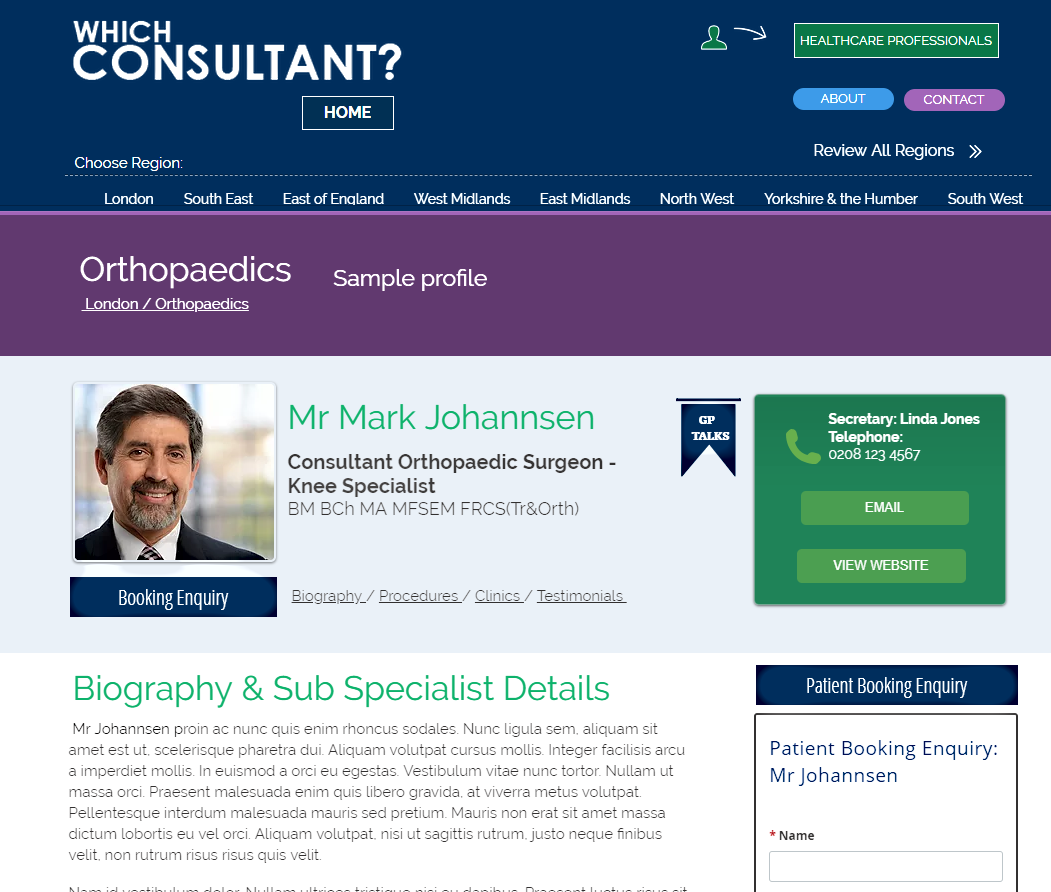 Individual Specialist profiles