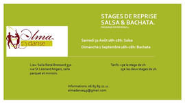 Stages de reprise SALSA & BACHATA.