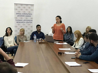 "Participants of the Internship program ""Global intern 2018"" at the TSU's ""Georgian Neighborhood Rese"