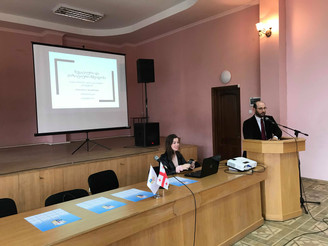 """Training Course """"Global Security Policy"""" at Sokhumi State University - lecture by Konstant"""