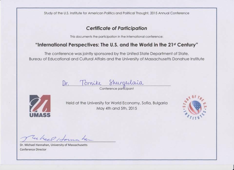Umass Certificate