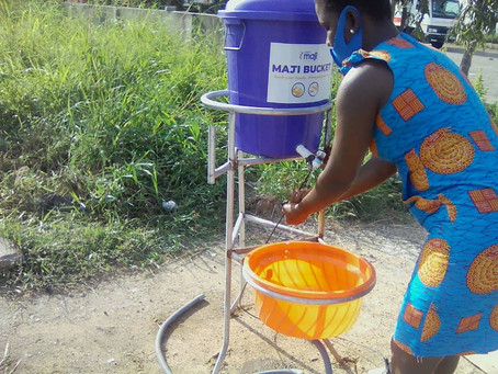 Introducing the 'Maji Bucket': A Zero-Touch Handwashing Station