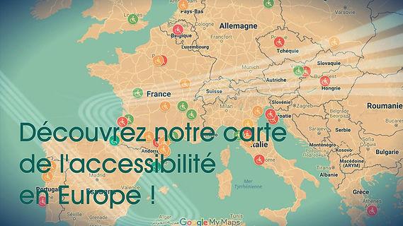 Carte Europe Voyage.Carte De L Accessibilite En Fauteuil Roulant En France Et En