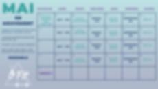 Purple and Blue Bold Birthday Calendar-2