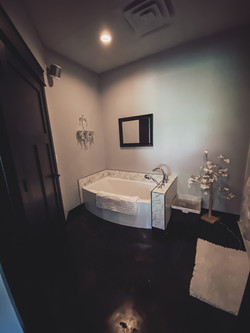 Spa tub and shower room